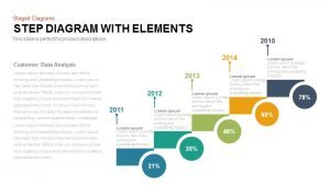 Step Diagram with Elements PowerPoint and Keynote Template