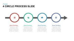 4 Circle Process PowerPoint Template and Keynote Slide