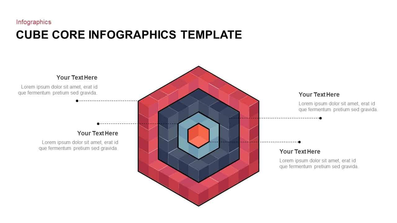 Core Cube Diagram PowerPoint Template